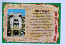 8807 CPM   MANOSQUE Médaillon Et Histoire De La Ville  1987 - Manosque