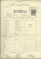 KINGDOM OF CROATIA, SLAVONIA & DALMAZIA -- PITOMACA , VARAZDIN,  CERTIFICATE, GYMNASIA,  1910 - TIMBRE FISCAL, TAX STAMP - Diplome Und Schulzeugnisse