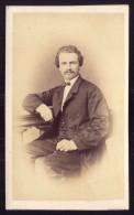 1868 HERMANN GLETTE Onboard VAPOR DANUBE Steamship Rio De Janeiro. Old CDV Albumen PHOTO - BRASIL BRAZIL. - Photos