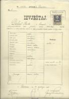 KINGDOM OF CROATIA, SLAVONIA & DALMAZIA -- PITOMACA , VARAZDIN,  CERTIFICATE, GYMNASIA,  1911 - TIMBRE FISCAL, TAX STAMP - Diplome Und Schulzeugnisse