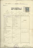 KINGDOM OF CROATIA, SLAVONIA & DALMAZIA -- PITOMACA , VARAZDIN,  CERTIFICATE, GYMNASIA,  1912 - TIMBRE FISCAL, TAX STAMP - Diplome Und Schulzeugnisse