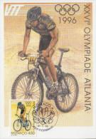Carte Maximum  1er   Jour   MONACO   Jeux  Olympiques  D´ ATLANTA   1996 - Summer 1996: Atlanta