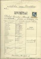 KINGDOM OF CROATIA, SLAVONIA & DALMAZIA -- PITOMACA , VARAZDIN,  CERTIFICATE, GYMNASIA,  1915 - TIMBRE FISCAL, TAX STAMP - Diplome Und Schulzeugnisse