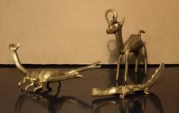 ART AFRICAIN: DROMADAIRE, CROCODILE, SCORPION.(Cire Perdue) Colissimo: GRATUIT - Art Africain