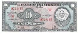 Mexico - Pick 58 - 10 Pesos 1959 - Unc - Messico
