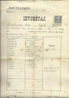 CROATIA  / AUSTRIA   --   ZENSKI LICEJ U ZAGREBU  --  SCHOOL CERTIFICATE  --  1914  --  TIMBRE FISCAL, TAX STAMP - Diplome Und Schulzeugnisse
