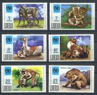 155 LIBERIA 1971 - Animaux Ours Singe ... (Yvert 542/47) Neuf ** (MNH) Sans Trace De Charniere - Liberia