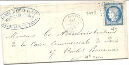 Haute Marne -Eurville. GC + CàD Type 16. Indice 4. FORGES - 1849-1876: Classic Period