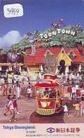 Télécarte Japon DISNEY / 110-182721 - Série TOONTOWN Tramway (3994) Japan Phonecard Telefonkarte - Disney