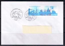 ATM, LISA1, Philexfrance 1999, FDC, 3/07/1999, PLI E 2.70 FRF/0.41 EUR, Oblitéré, Avion,  2e Jour  Du Salon - 1999-2009 Vignettes Illustrées
