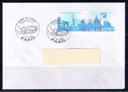 ATM, LISA1, Philexfrance 1999, FDC, 4/07/1999, PLI E 2.70 FRF/0.41 EUR, Oblitéré,Journée De L´Europ ,  3e Jour  Du Salon - 1999-2009 Vignettes Illustrées