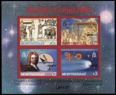 MONTSERRAT 1987 Astronomy Hastings Nasaret Halley´s Comet Capex ERROR:no  Red  [Fehler,erreur,errore,fout] - Montserrat