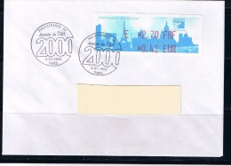 ATM, LISA1, Philexfrance 1999, FDC, 5/07/1999, PLI E 2.70 FRF/0.41 EUR, Oblitéré,Journée De L´an 2000, 4e Jour  Du Salon - 1999-2009 Vignettes Illustrées