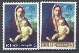 Irlande 1974 N°313/314 Neufs ** Noël - 1949-... Repubblica D'Irlanda