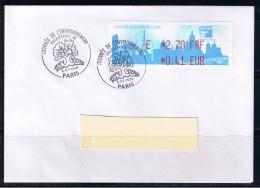 ATM, LISA1, Philexfrance 1999, FDC, 8/07/1999, PLI E 2.70 FRF/0.41 EUR, Oblitéré,Journée De L'environnement, 7eme Jour - 1999-2009 Vignettes Illustrées