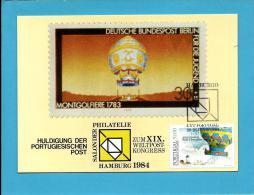 HAMBURG 1984 - Huldigung Der Portugieseschen Post -  BPE - GERMANY - 2 - Carte Maximum Card Maxicard - Maximum Cards & Covers