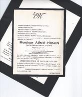Anhée - Yvoir / 2 Documents / Monsieur Alfred Pirson: Né à Warnant 1894 - Décédé 1960 Bruxelles. - Godsdienst & Esoterisme