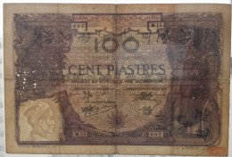 INDOCHINE FRENCH INDOCHINA 1919  SAIGON 100 Piastres - Indochine