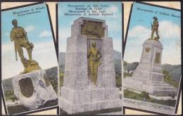 POS-147 CUBA SANTIAGO DE CUBA POSTCARD. MONUMENTO AL SOLDADO, LOMA DE SAN JUAN. CIRCA 1950. - Cuba