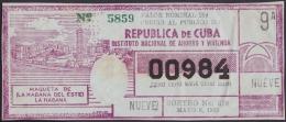 LOT.128 CUBA 1965. REVOLUTIONARY LOTTERY. SORTEO 319. - Lottery Tickets
