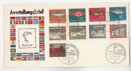 1964 GERMANY COVER Multi FISH Stamps EVENT HANNOVER FAIR - Fishes