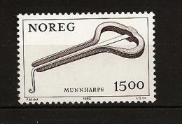 Norvège Norge 1982 N° 820 ** Courant, Musique, Folklore, Guimbarde, Instrument à Vent, Munnharpe, Doigt, Bouche - Unused Stamps