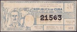 LOT.131 CUBA 1965. REVOLUTIONARY LOTTERY. SORTEO 351. - Lottery Tickets