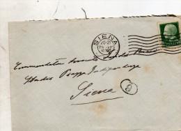 1940 LETTERA CON ANNULLO SIENA - Storia Postale