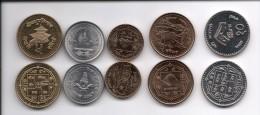 Nepal 5 Coins Set UNC - Népal