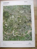 GRAND PHOTO VUE AERIENNE 66 Cm X 48 Cm De 1979 CHARLEROI MARCHIENNE AU PONT - Cartes Topographiques
