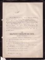 HERENTALS GAND Delphine DE COCK Veuve Joseph DIERCXSENS 1802-1873 Famille POUPPEZ De HOLLAEKEN Rijmenam - Obituary Notices