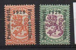 P579.-. FINLAND / FINLANDIA. 1928 . SC # : 153-154 . MNH - ARMS COAT .  CV: US$ 15.00 - Unused Stamps