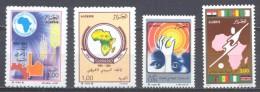 Algérie YT N°970-971-972-973 Banque Africaine De Développement - UPAP - Energie - Coupe D'Afrique Des Nations Neuf ** - Algeria (1962-...)