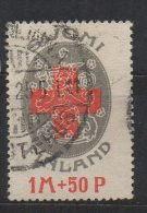 P592.-. FINLAND / FINLANDIA. 1922. SC # : B 1 - USED- RED CROSS.  ARMS .-. CV: US $ 10.00 - Oficiales