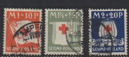P593.-. FINLAND / FINLANDIA. 1930. SC # : B 2- B 4 - USED- RED CROSS  .-. CV: US $ 40.00 - Oficiales