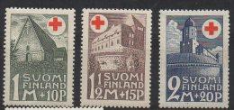 P595.-. FINLAND / FINLANDIA. 1931. SC # : B5 - B7 - MH- RED CROSS  .-. CV: US $ 10.00 - Oficiales