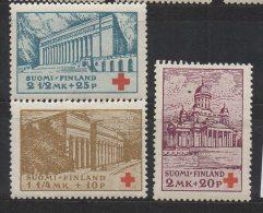 P596.-. FINLAND / FINLANDIA. 1932. SC # : B9 - B11 - MH- RED CROSS  .-. CV: US $ 4.00 - Oficiales