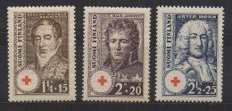 P597.-. FINLAND / FINLANDIA. 1936. SC # : B21 - B23 - MH- RED CROSS  .-. CV: US $ 5.00 - Oficiales