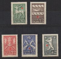 P599.-. FINLAND / FINLANDIA. 1942. SC # : B49 - B53 - MNH- RED CROSS - .-. CV: US $ 7.00 - Oficiales