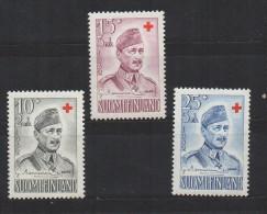 P601.-. FINLAND / FINLANDIA. 1952. SC # : B114- B116 - MNH- RED CROSS - FILED MARSHAL MANNERHEIM.-. CV: US $ 5.00 - Oficiales