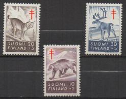 P604.-. FINLAND / FINLANDIA. 1957. SC # : B142- B144 - MNH- TUBERCULOSIS - ANIMALS.-. CV: US $ 6.00 - Oficiales