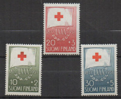 P605.-. FINLAND / FINLANDIA. 1957. SC # : B145- B147 - MNH- RED CROSS - .-. CV: US $ 6.00 - Oficiales