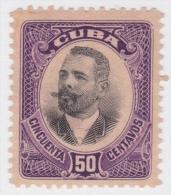 1910-94 CUBA REPUBLICA 1910. 50c ANTONIO MACEO Ed.187. SIN GOMA. - Cuba