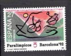 ESPAÑA SPAIN. 1992. SERIE BARCELONA 92. PARALIMPICOS. PARALYMPIC GAMES OF BARCELONA 92 - Zomer 1992: Barcelona