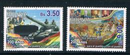 Bolivia Flag Day 2010 Army Tanks 2 New 0117 - Bolivien