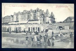 Cpa De Belgique Blankenberghe La Plage Et L' Hôtel Wehrli   FEV16 11 - Blankenberge