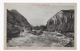 (RECTO / VERSO) ENVIRONS DE TARASCON - N° 1378 - BARRAGE SUR L' ARIEGE PRES D' ORNOLAC - Ed. LABOUCHE FRERES - CPA - Francia
