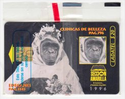 MEXICO A-013 Chip Telmex - Animal, Monkey - in blister