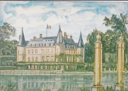 78----RAMBOUILLET---créateur Ou Dessinateur  DECARIS--carte édité Pour Le Timbre Château De Rambouillet----voir 2 Scans - Rambouillet (Château)