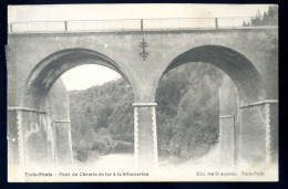 Cpa De Belgique Liège Trois Ponts -- Pont Du Chemin De Fer à La Bifurcation   FEV16 12 - Trois-Ponts